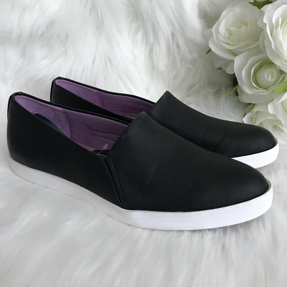 Dr Scholls Vienna Black Leather Loafers